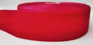 Fita de Veludo n°9(38mm) - Vermelho