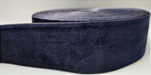 Fita de Veludo n°9(38mm) - Azul Marinho