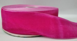 Fita de Veludo n°9(38mm) - Rosa