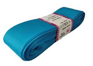 Fita de Gorgurão Sanding n°9(38mm) 10metros - Cor 58 Azul Turquesa