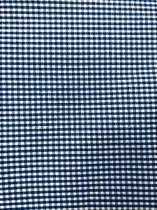Tecido Tricoline Estampado Xadrez Azul (Meio Metro)