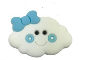 Aplique Emborrachado Nuvem Azul