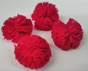 Pompom de Malha Tecido (2cm) c/10 un - Vermelho
