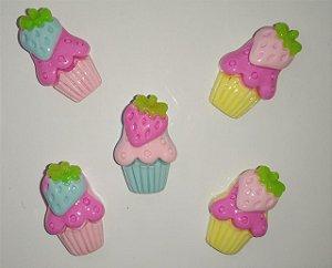 Aplique Plástico Cupcake Sortidos