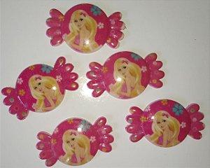 Aplique Plástico Bala da Barbie Sortidos