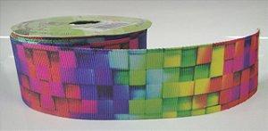 Fita de Gorgurão 3D Cubo Degradê 186