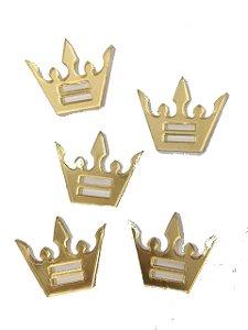 Aplique Dourado Coroa