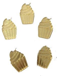 Aplique Dourado Cupcake