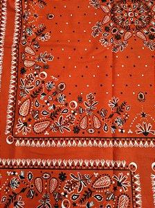 Tecido Tricoline Floral Vermelho (Meio Metro)