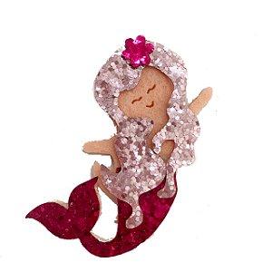 Enfeite em EVA c/ glitter Personalizado Sereia