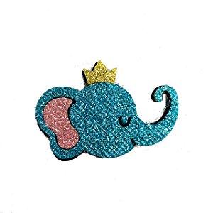 Enfeite em EVA c/ glitter Personalizado Elefante