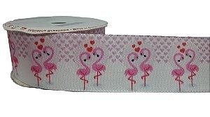 Fita de Gorgurão Flamingos Love 27