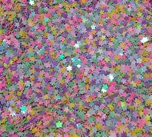 Aplique Glitter Micro Estrelinhas - Pacote com 10g