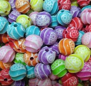 Miçangas Entremeio Plástico Bolinha Espiral - 25g