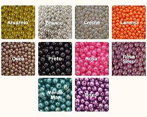 Pérola Colorida Tamanhos Variados - Pacote c/ 50g