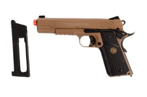 Pistola de Airsoft CO₂ - 1911 STI TAC Master TAN - Full Metal - Blowback