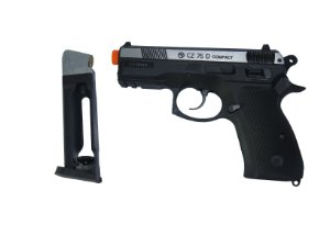 Pistola de Esfera de aço CO₂ - CZ 75D Compact Dual Tone - 4.5mm