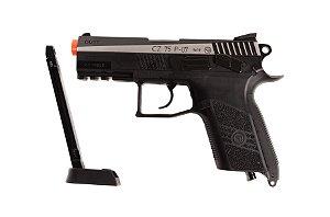 Pistola de Esfera de aço CO₂ - CZ 75 P-07 Duty Dual Tone - Blowback - 4.5mm