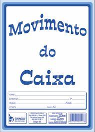 LIVRO MOVMENTO DO CAIXA TAMOIO 50 FLS - GRANDE