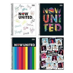 Caderno universitário 80 folhas - NOW UNITED - Tilibra