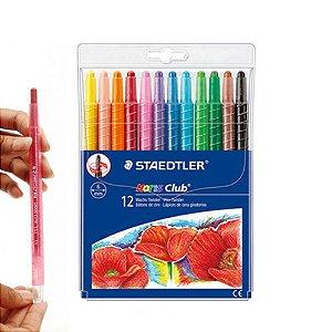 Giz de cera retrátil com 12 cores - Staedtler
