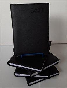AGENDA 2021 MODELO 128 - COMBATE - ROTERMUND - CAPA COURO SINTETICO PRETO - 14,3X20