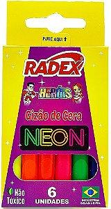 Gizão de cera neon 6 cores - Radex