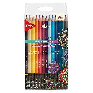 Lápis de cor 12 cores - Tons Boho Chic + 01 lápis 6B - Tris