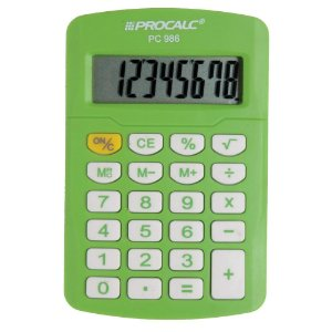 Calculadora Procalc - PC 986 - Vivid Colors - verde