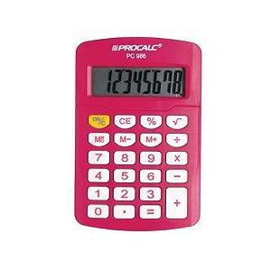 Calculadora Procalc - PC 986 - Vivid Colors - pink
