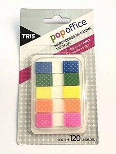 Marcadores de páginas T005 Decor - com 120 unidades - Popoffice - Tris