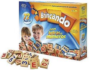 Brincando com letras e números - 72 peças - Xalingo