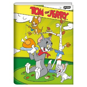 Caderno brochura universitário capa dura 96 folhas - Tom e Jerry - Jandaia