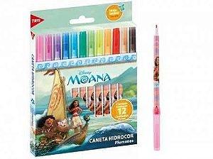 Caneta hidrográfica com 12 cores Moana - Molin