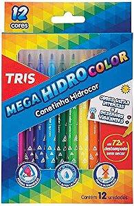 Caneta hidrográfica com 12 cores - Tris