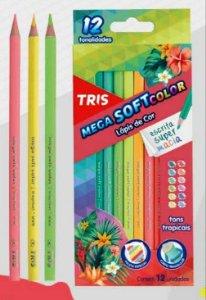 Lápis de cor 12 cores - tons tropicais - Tris