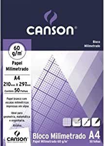 Bloco papel milimetrado A4 - 60g/m2 - 50 folhas - Canson