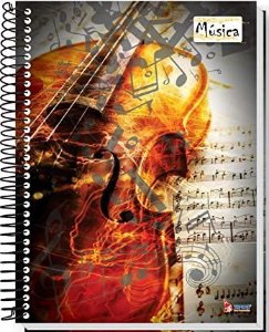 Caderno de Música - 275mmx 200mm - espiral - folha 63g/m2 - Tamoio