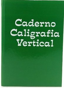 Caderno de caligrafia vertical - 96 folhas - 1/4 - 56g/m2 - verde - Tamoio