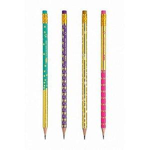 Lápis preto decorado com borracha Collection Star - Tris