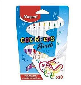 Caneta hidrográfica Brush 10 cores - Color'Peps - Maped