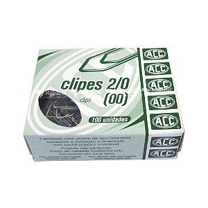 Clipes 2/0 - niquelados - 100 unidades - ACC