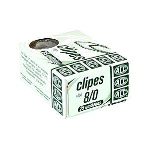 Clipes 8/0 - niquelados - 25 unidades - ACC
