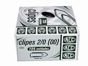 Clipes 2/0 - niquelados - 725 unidades - ACC