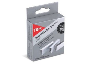 Grampo p/ grampeador - 23/24 - niquelado - 1000 unidades - Heavy Duty - TRIS