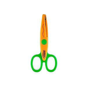 Tesoura de picotar - curva - p/ papéis até 90g - ponta redonda - BRW