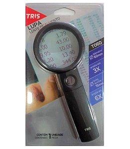 Lupa (Lente de aumento) - T060 - amplia até 3x - lente auxiliar de 15mm - TRIS