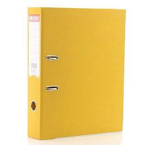 Pasta registradora AZ - ofício - 2 argolas - lombada estreita - amarela - Chies