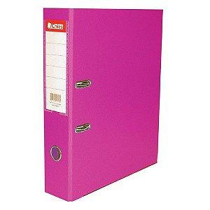 Pasta registradora AZ - OFÍCIO - 2ofício - 2 argolas - lombada larga - rosa pink - Chies
