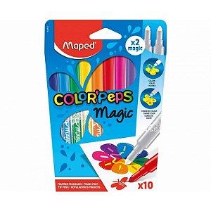 Caneta Hidrográfica Color Peps Magic 10 Cores - Maped
